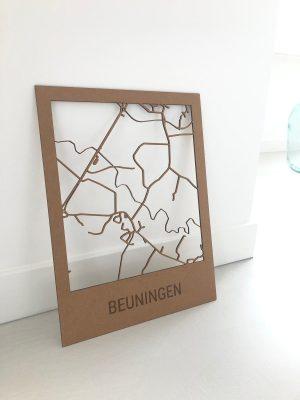 Dorpskaart Beuningen - Naturel