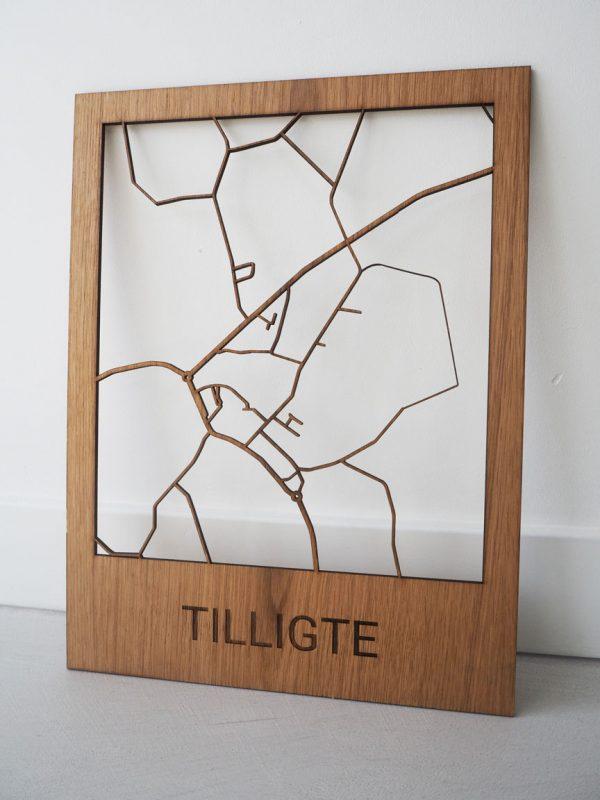 Houten dorpskaart Tilligte