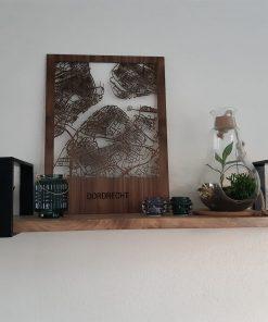 Houtenstadskaart notenhout